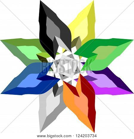 diamond star in several colors for different uses