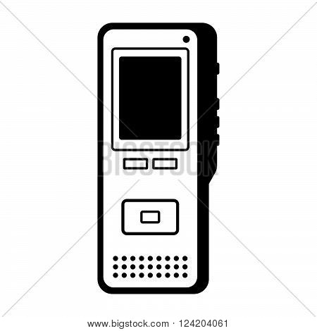 Dictaphone ( shade picture ) on white background