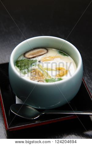 close up shot of traditional Japanese cuisene Chawan-Mushi
