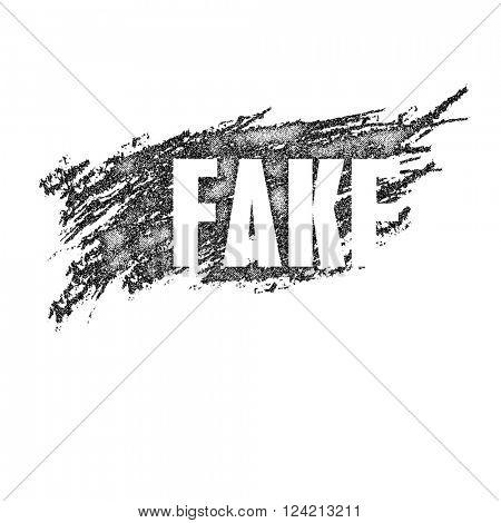 Fake chalk emblem. Vector illustration