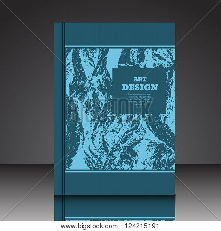 Abstract Blue Composition A4  Brochure Title Sheet Eps10 Vector