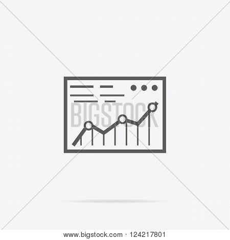 Analysis concept in flat style. Price movement. Stock exchange rates on monitors. Profit graph for diagram. Electronic stock numbers. Profit gain. Business stock exchange. Live online screen