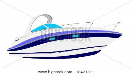 Luxury yacht illustration