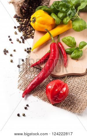 Hot Chili Peppers With Basil