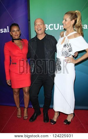 LOS ANGELES - APR 1:  Mel B, Howie Mandel, Heidi Klum at the NBC Universal Summer Press Day 2016 at the Four Seasons Hotel on April 1, 2016 in Westlake Village, CA