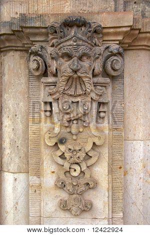 Sculpture on Wallpavillion, Zwinger Palace