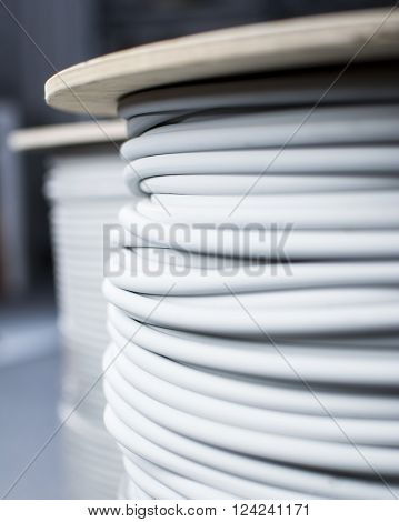 cable-drum, cable, energy, electricity, rolled, power, cabling, roll up,