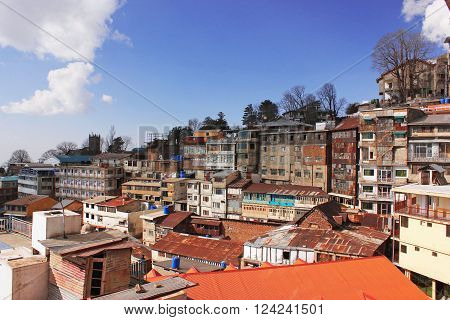 Beautiful View Of Colourful Houses And Amazing Hilsl In Murree Hills Pakistan