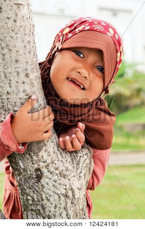 Playful Muslim Child