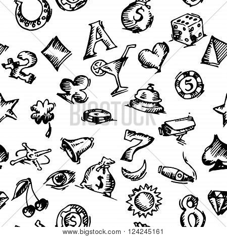 hand drawn vector stock illustration. black and white background