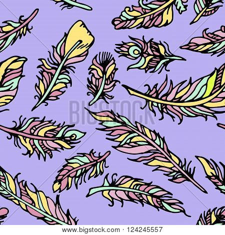 Colorful hand drawn vector stock illustration. Background pattern