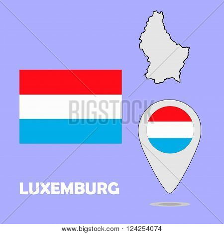 A pointer map and flag of Luxemburg