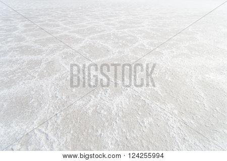 Detail view of the salt at Bonneville Salt Flats, Utah