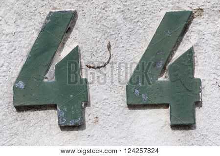 House number 44 in the city of Saint Cloud, France ** Note: Soft Focus at 100%, best at smaller sizes