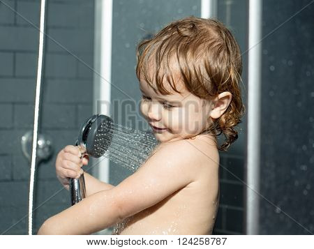 Small Baby Boy In Shower