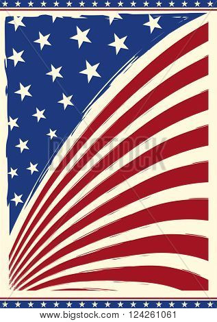 american vintage flag. American grunge flag on a background for you