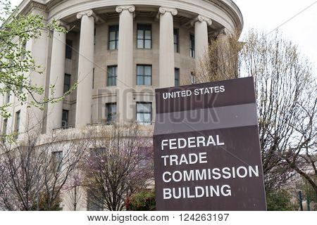 WASHINGTON, DC - MARCH 25, 2016: United States Federal Trade Commission building in Washington, DC