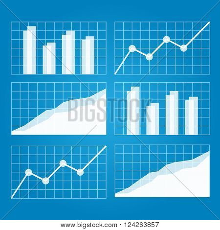 Graphs and charts. 10 eps vector illustration