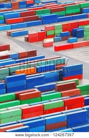 Cargo container in a port - trasnportation industry