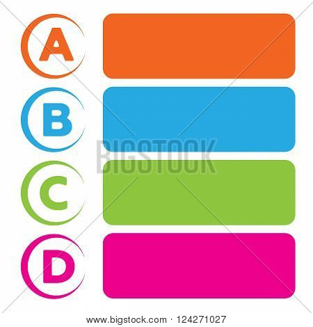 Vector background with four choices ABCD. 10 eps vector illustration