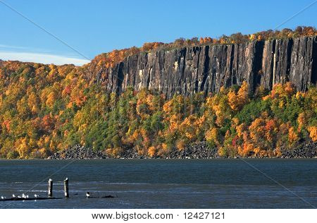 Hudson River and The Palisades in Autumn