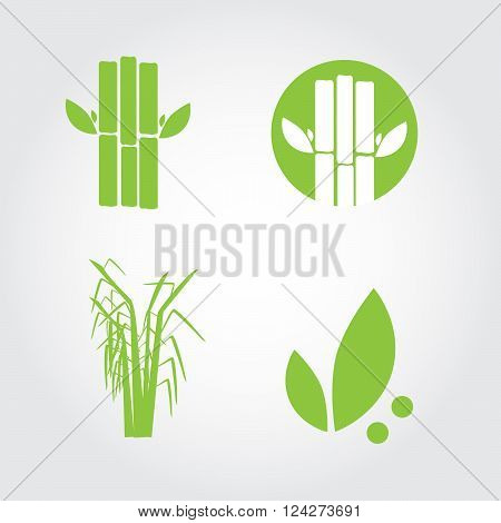 Sugar cane icons. 10 eps vector illustration