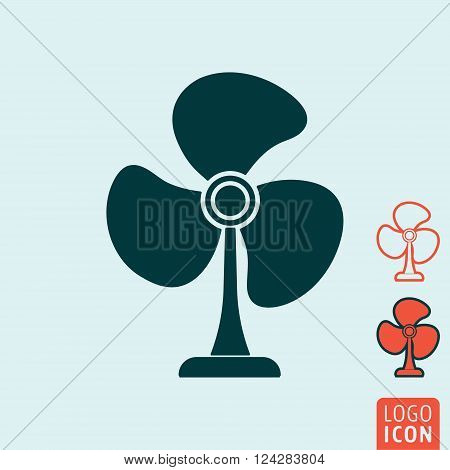 Fan icon. Fan symbol. Room fan icon isolated, minimal design. Vector illustration