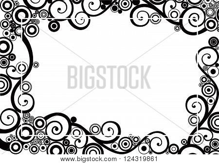 Vector Abstract frame with place for text