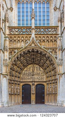 Antwerpen Cathedral Main Entrance Doors