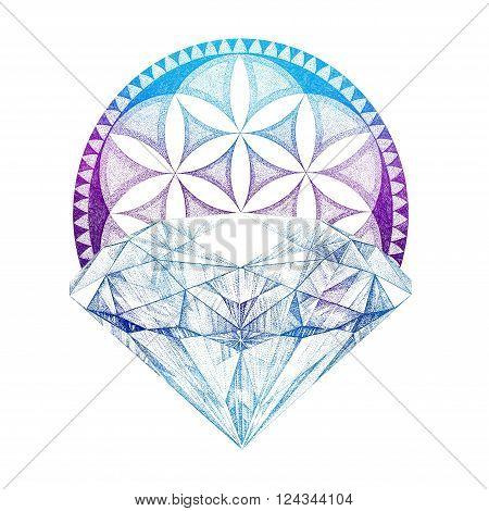 Hand Painted Brilliant, Diamond