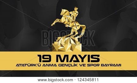 May 19 Ataturk Commemoration and Youth and Sports Day poster