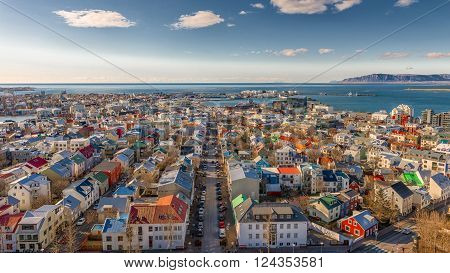 City of Reykjavik from above, Capital of Iceland