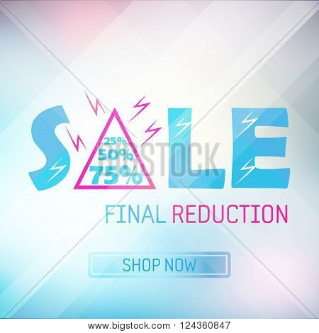 spring final reduction sale banner bright background poster
