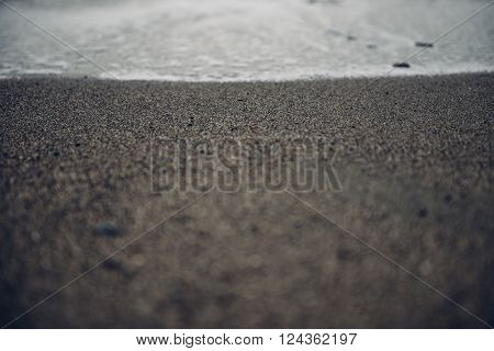 Dark Sombre Sea Gravel Stone Beach Background