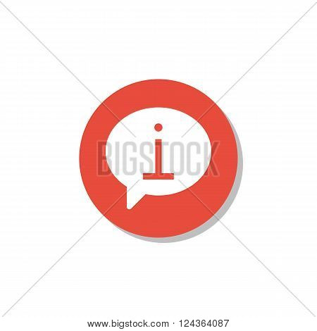 Info Icon In Vector Format. Premium Quality Info Icon. Web Graphic Info Icon Sign On Red Circle Back