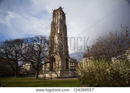 Saint-Jacques tower in Paris