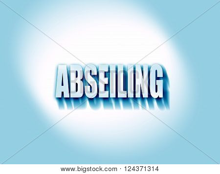 abseiling sign background with some soft smooth lines