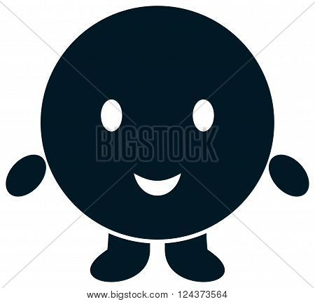 Funny round dot comic character vector illustration