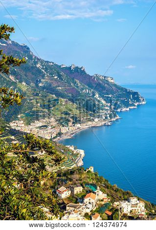View of Maiori from Ravello - the Amalfi Coast, Italy
