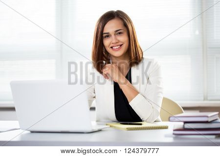 Modern business woman in the office