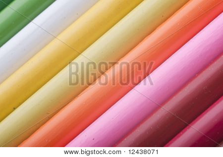 abstract texture of the colorful pencils
