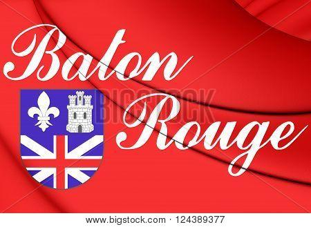 Flag Of Baton Rouge (louisiana), Usa.