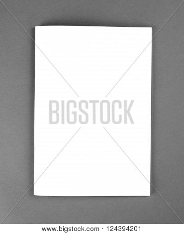 Blank catalog brochure magazines book mock up. Blank closed magazine on grey background. ** Note: Soft Focus at 100%, best at smaller sizes