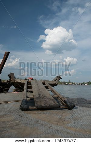Small Ferry ( boat) in Krabi Provice Thailand