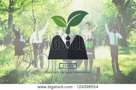 Corporate Social Responsibility Nature Concept
