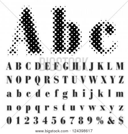 original vector dotted raster font