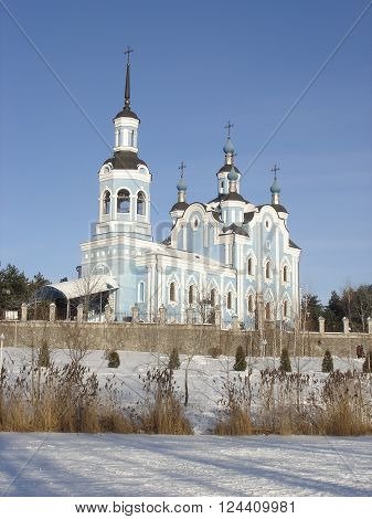 Eastern Orthodoxy Christian Church in the winter