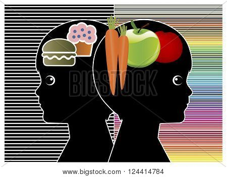 Kids to change Food Habits. Difference between healthy and junk food affecting the brain activities and performance