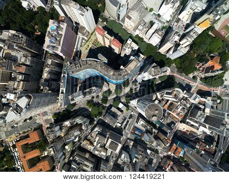 Top View of Copan Building in Sao Paulo, Brazil