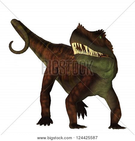 Prestosuchus on White 3D illustration - Prestosuchus was a carnivorous archosaur dinosaur that lived in the Triassic Period of Brazil.
